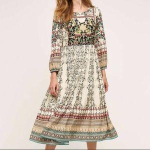 Far Fields Midi Dress from Anthropologie